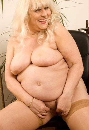 fat bbw blonde granny